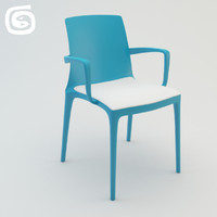 3d twin chair