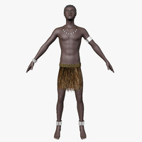 3d papuan hair character model