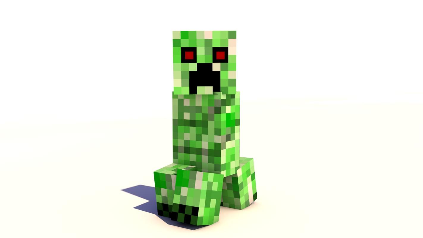Cinema4d Creeper Minecraft