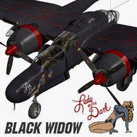 p-61 black widow 3d blend