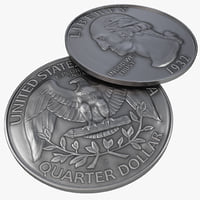 3ds max quarter dollar