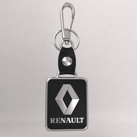realistic renault car key 3d max
