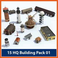 3d model pack buildings