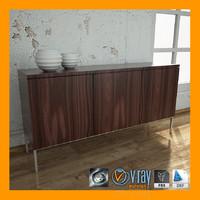 3d cabinet v-ray model