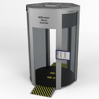 millimeter wave body scanner 3d model