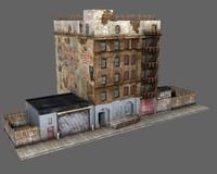 3ds max old new york building