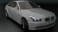 bmw 5 series sedan 3d model