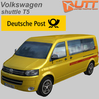 volkswagen transporter shuttle deutsche 3d model