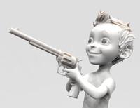 colt gun 3d model