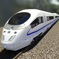 3d model crh3 crh3c speed train