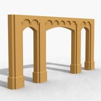 decoration architectural 3d model