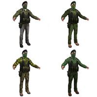 ira terrorist pack 3d model