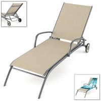 3d model chair towel deckchair