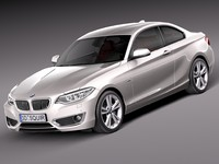 3d model of 2014 coupe bmw
