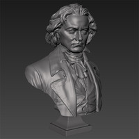 printable beethoven bust 3d model