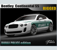 3d bentley continental ss dubai