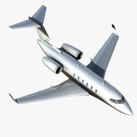 challenger 350 business jet 3d max
