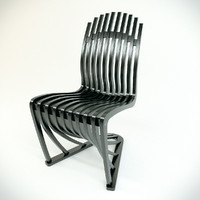 3d model chair stripe joachim king