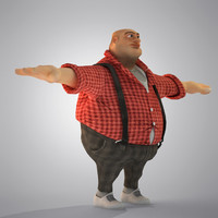 egypt cartoon fat man s