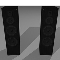 speakers stereo 3d c4d