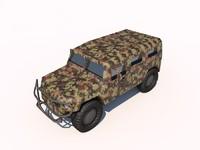tigr gaz 3d model