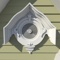 decorative style gable vent 3d max