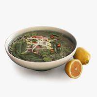 vietnamese soup 3d max