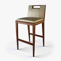 designer bar stool 3d model