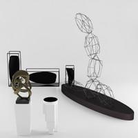 3d model of modern art