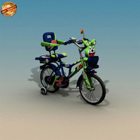 3d model cycle kid