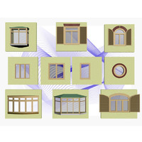 set window 3d model