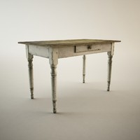 antique table 3d model