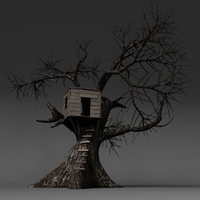 tree treehouse 3d model