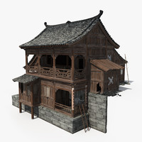 Chinese Ancient Wooden House