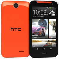 3d model of htc desire 310 red