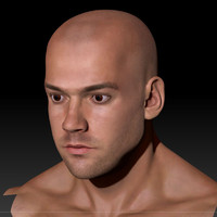3d male head man human