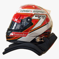racing helmet kimi räikkönen 3d obj