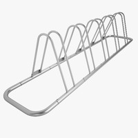free bicycle parking rack 3d model