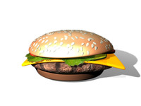 3d hamburger burger