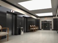 3d ma modern hallway