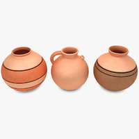 water pot set 3d max
