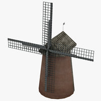 windmill 2 3d model