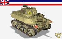 lwo m3a3 stuart tanks wwii