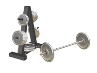 weight plate rack 3d max