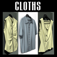 3d cloth hangers model