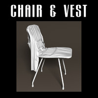 chair vest 3d obj
