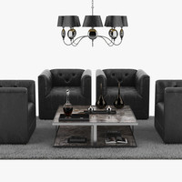 sofa set chair lamp max