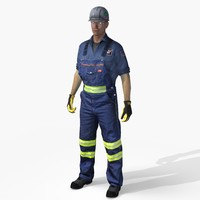 safety worker american mining 3d max
