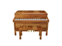 3d home piano wood model