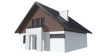 cyprysek house 3d fbx